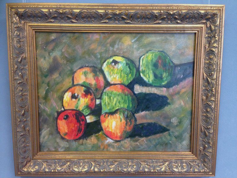 Cezanne: Apples, 1878 | Student painting completed in one session at Inglis Academy: www.inglisacademy.com