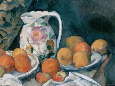 "Cezanne's ""Still Life with a Curtain"" from 1895."