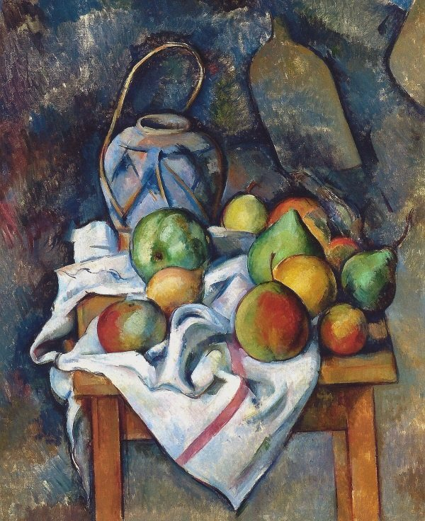Cezanne: Still life with Ginger Jar and Fruit, 1895