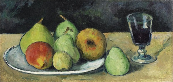 Cezanne: Still Life with Pears and Glass, 1879
