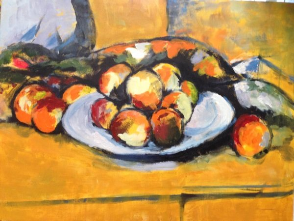 "Cezanne's ""Still Life with a plate of Peaches"" ,1900, student paintings"