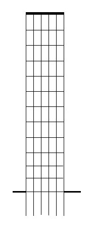 A blank diagram of the guitar fretboard. Print it out for your own use.