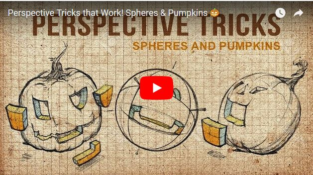 Perspective tricks that work: Spheres and pumpkins