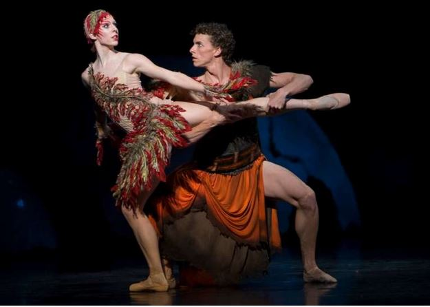 Prince Ivan Tsarevich captures the Firebird. She begs for her life, and in return offers a magical feather which will summon her.