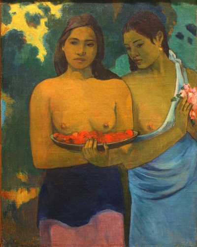 Gauguin: Two Tahitian Women, 1899.
