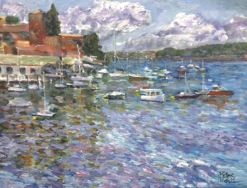 Boats at Manly Cove (ala Monet), by Peter Inglis
