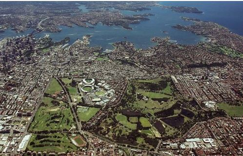 Sydney's Centennial Park from the air