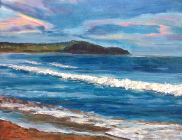 Dee Why Beach - a painting by Peter Inglis.