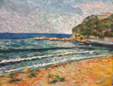 Palm Beach South, Sydney in the style of Monet