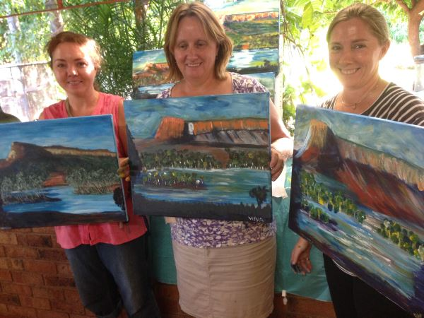Student's Painting completed during a workshop by  Inglis Academy in Kununurra, The Kimberleys, Western Australia | More at www.inglisacademy.com