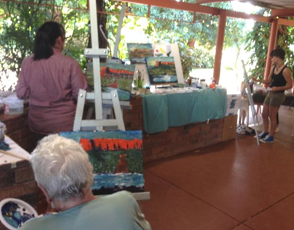 Student's Painting with Inglis Academy in Kununurra, The Kimberleys, Western Australia.