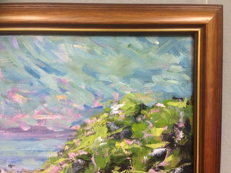 Toukley Beach ala Monet - an original Aussie landscape by Peter Inglis.