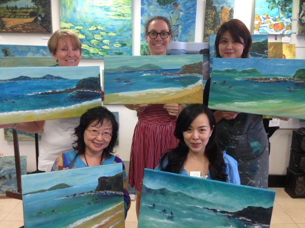 After only 4 hours these students had completed their own unique interpretation of an Australian landscape. Inglis Academy teaches you the same processes that were used by Monet, Cezanne and Van Gogh.