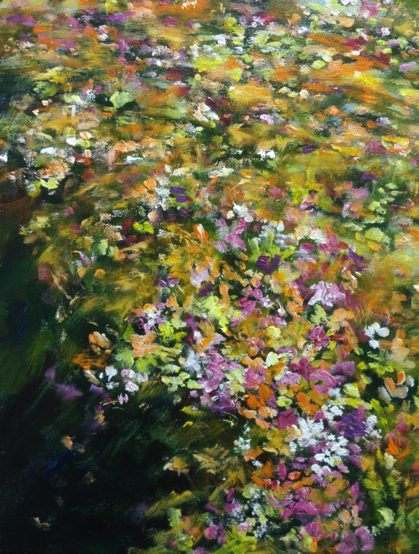 Sea of Flowers (Wisteria Gardens) - An original Australian Landscape by Peter Inglis.