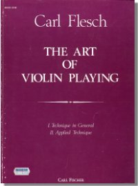 Carl Flesch 'The Art of Violin Playing' Book One