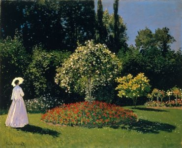 Monet's 'Jeanne Marguerite Lecadre in the Garden, 1866'