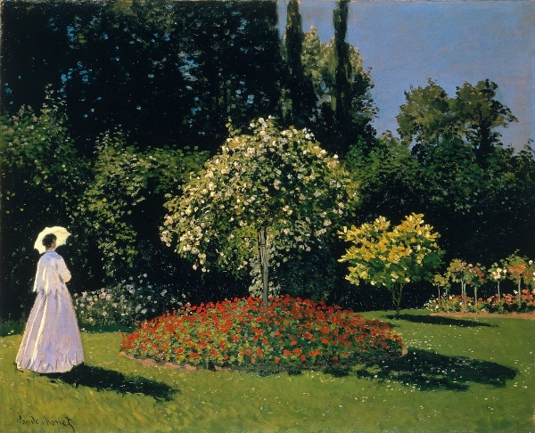 Monet: Jeanne Marguerite Lecadre in the Garden, 1866  - \\o// Paint this in just one session at Inglis Academy - www.inglisacademy.com.