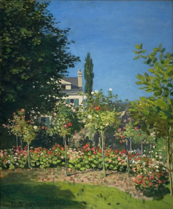 Monet: ' Garden in Bloom at Sainte-Addresse, 1866.'