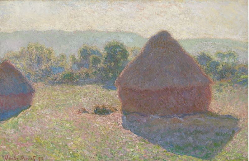 Monet: Haystacks: Giverny, 1885 - Complete this painting in one session Inglis Academy - www.inglisacademy.com