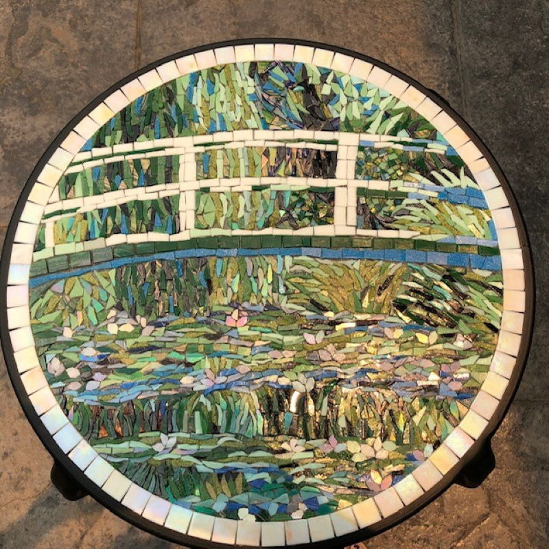 Monet mosaic created by Helen, after attending several classes at Inglis Academy.