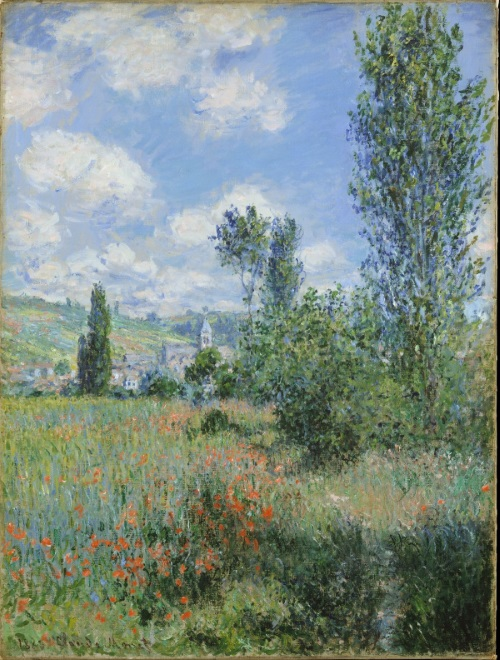 Monet: Lane in the Poppy Fields, Ile Saint-Martin, 1880-600 \\o// Paint this at Inglis Academy - www.inglisacademy.com.