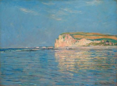 Monet: Low tide at Pourville, 1882