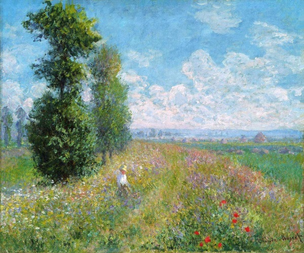 Learn to paint Monet: Meadow with Poplars, 1875 at Inglis Academy.
