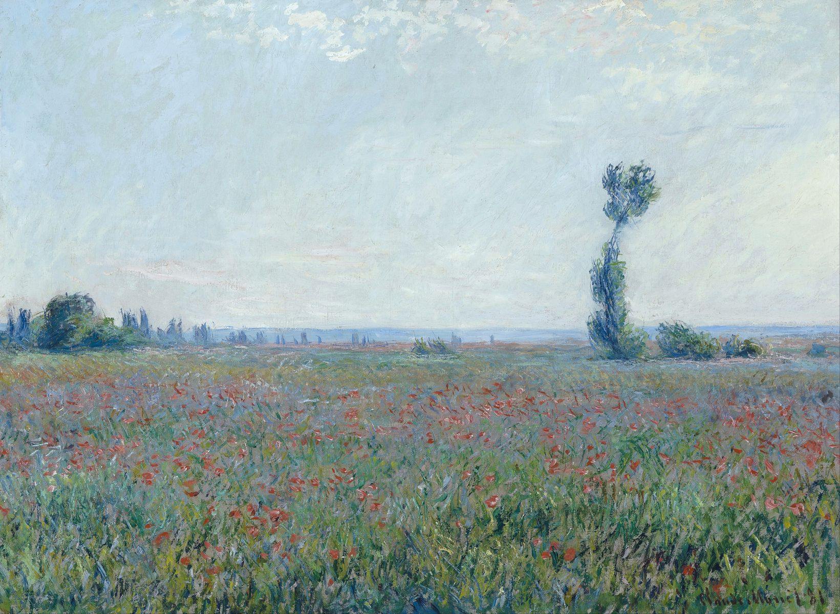 Monet: Poppy Field, 1881 \\o// Paint this at Inglis Academy - www.inglisacademy.com.