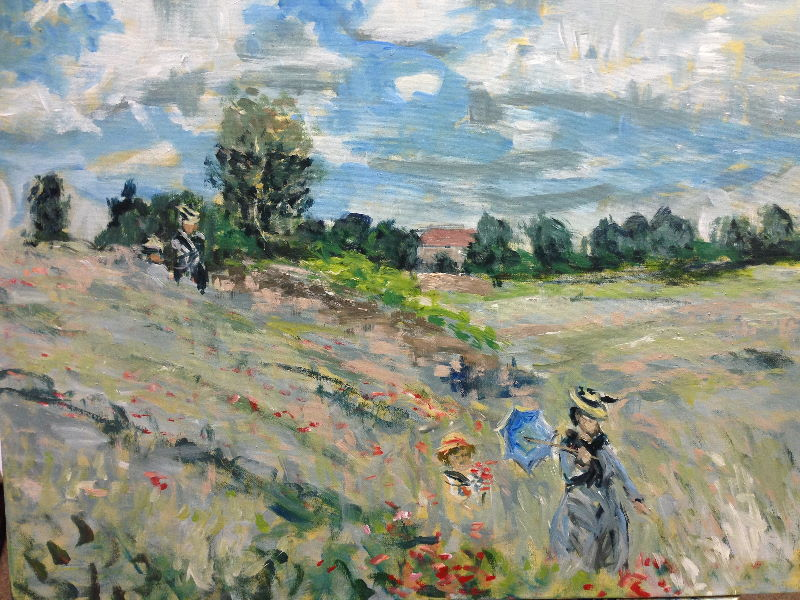 Poppy Field in Argenteuil by Claude Monet - sketch by Peter Inglis. \\o// Excerpt from the painting coaching at Inglis Academy - www.inglisacademy.com