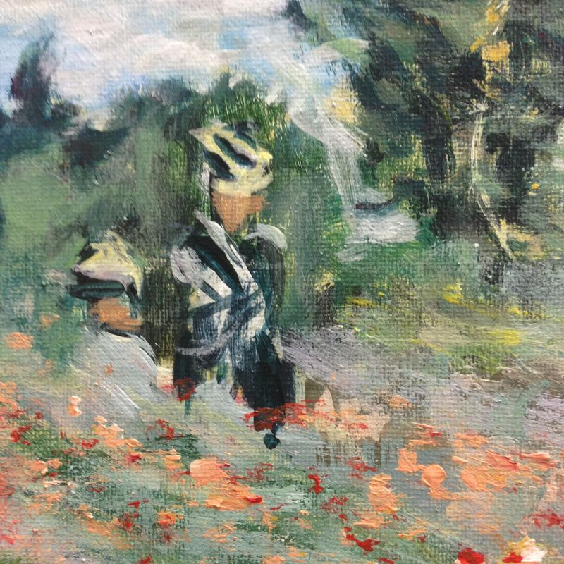 Poppy Field in Argenteuil by Claude Monet - interpretation by Peter Inglis. \\o// Excerpt from the painting coaching at Inglis Academy - www.inglisacademy.com