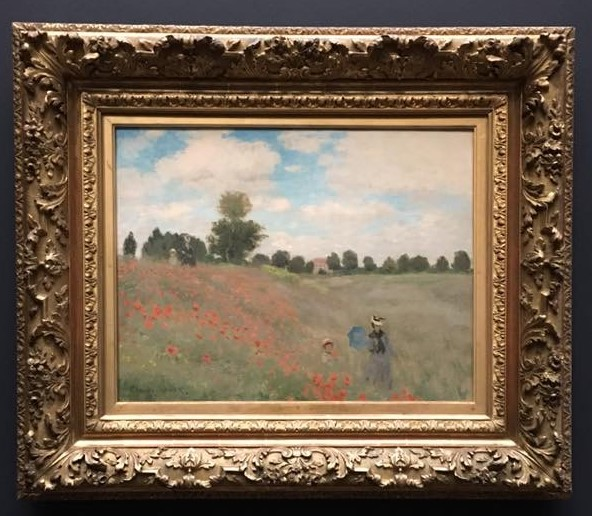 Monet: Poppy field near Argenteuil, 1873 \\o// Excerpt from the painting coaching at Inglis Academy - www.inglisacademy.com