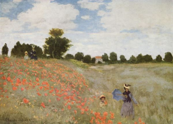 Monet: Poppy field near Argenteuil, 1873 | Intro to 'Monet & Friends')