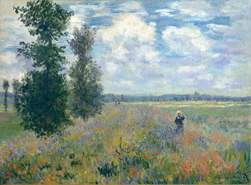 Monet: Poppy Field, Argenteuil, 1875 \\o// Paint this at Inglis Academy - www.inglisacademy.com.