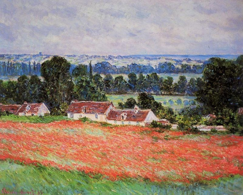 Monet: Poppy Field at Giverny, 1885 \\o// Paint this at Inglis Academy - www.inglisacademy.com.
