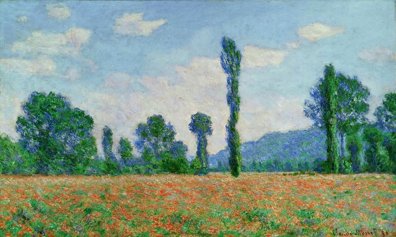 Monet: Poppy Field in Giverny, 1890 01 \\o// Paint this at Inglis Academy - www.inglisacademy.com.