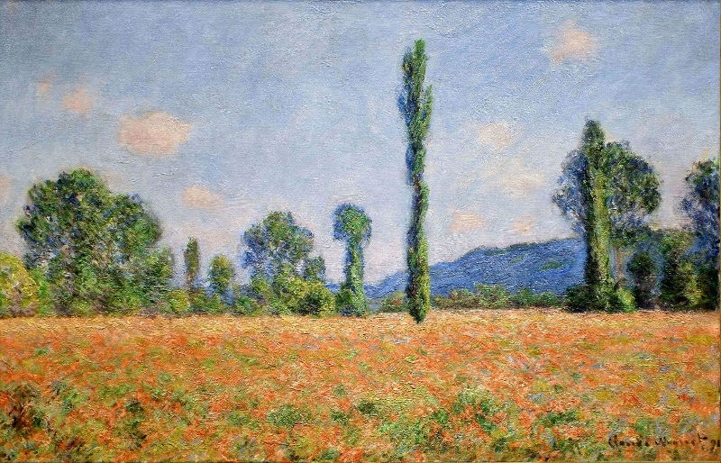 Monet: Poppy Field in Giverny, 1890 02 \\o// Paint this at Inglis Academy - www.inglisacademy.com.