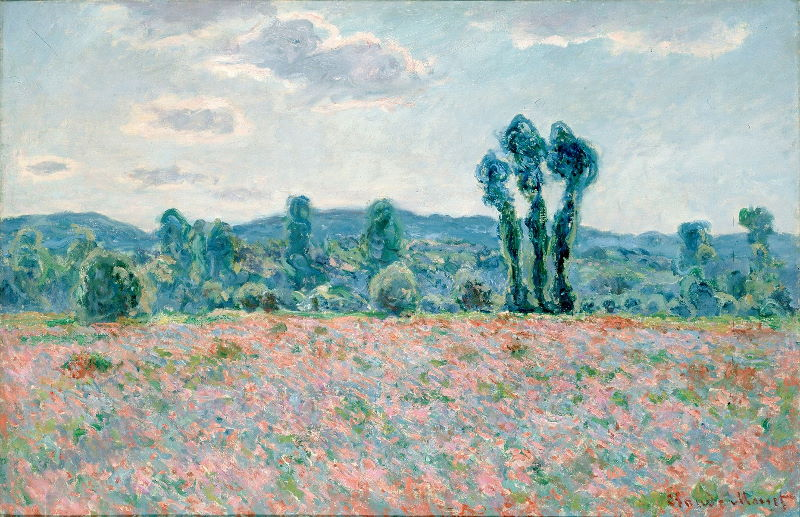 Monet: Poppy Field in Giverny, 1890 03 \\o// Paint this at Inglis Academy - www.inglisacademy.com.