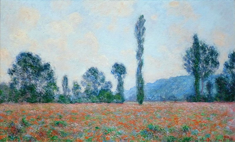 Monet: Poppy Field in Giverny, 1890 04 \\o// Paint this at Inglis Academy - www.inglisacademy.com.