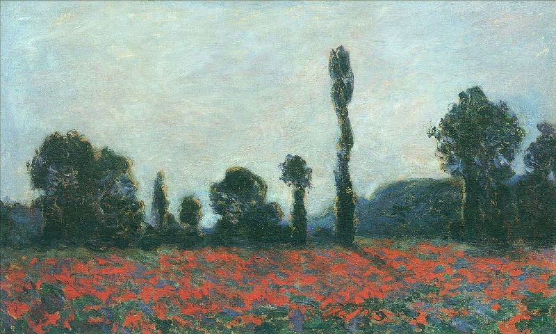 Monet: Poppy Field in Giverny, 1890 05 \\o// Paint this at Inglis Academy - www.inglisacademy.com.
