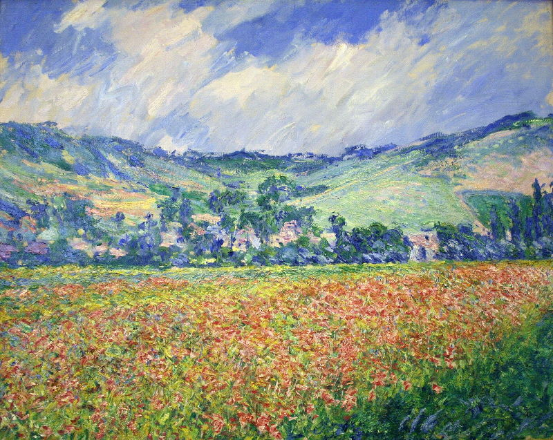 Monet: Poppy Field, Outskirts of Giverny, 1885 \\o// Paint this at Inglis Academy - www.inglisacademy.com.