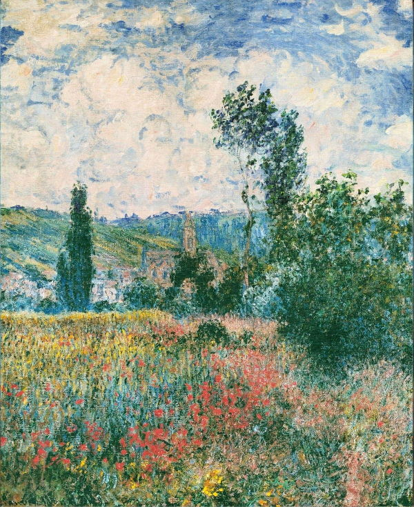 Monet: Poppy Field near Vetheuil, 1879 \\o// Paint this at Inglis Academy - www.inglisacademy.com.