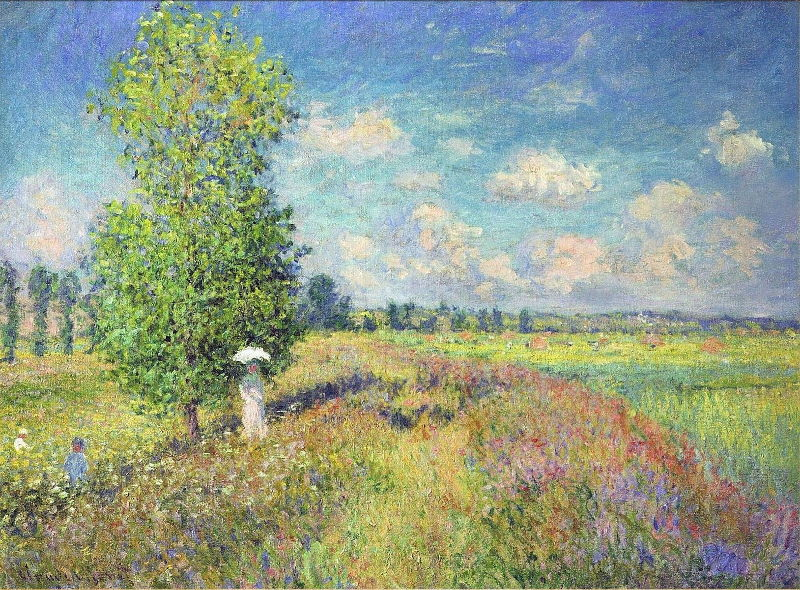 Monet: Summer, Poppy Field, 1875 \\o// Paint this at Inglis Academy - www.inglisacademy.com.