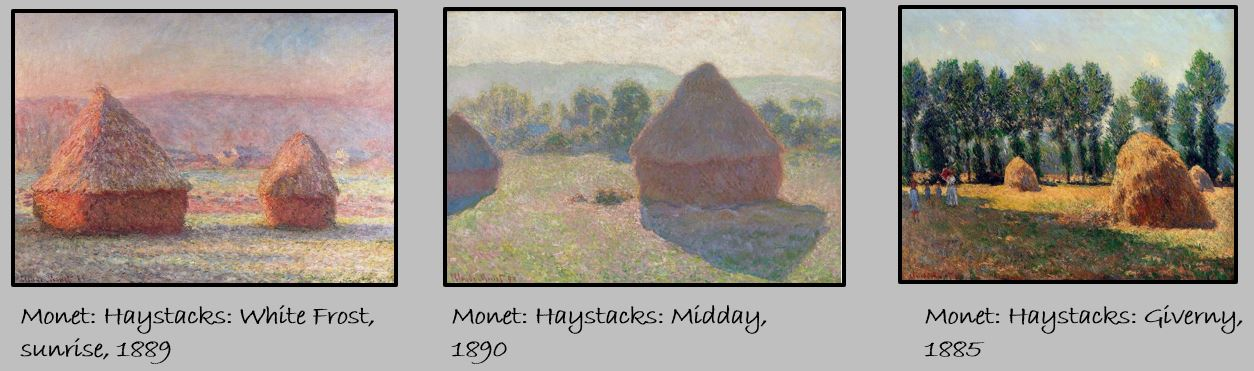 Monet Haystacks Triptych \\o// Paint this at Inglis Academy - www.inglisacademy.com.
