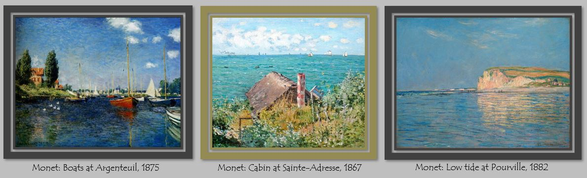 Monet Seascapes Triptych \\o// Paint this at Inglis Academy - www.inglisacademy.com.