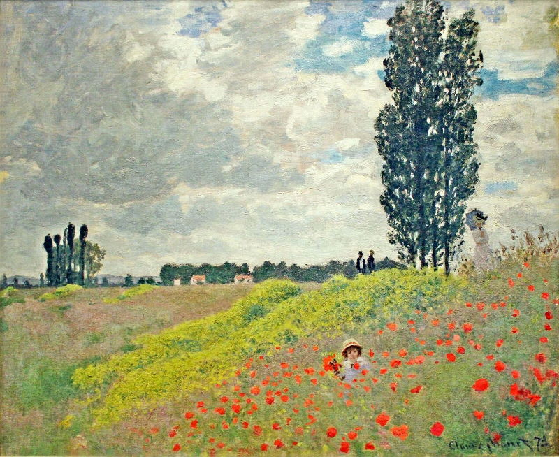 Monet: Walk in the Meadows at Argenteuil, 1873 \\o// Paint this at Inglis Academy - www.inglisacademy.com.