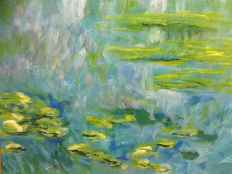 Monet: Waterlilies, 1906, No.1. \\o// Paint this in just one session at Inglis Academy - www.inglisacademy.com.