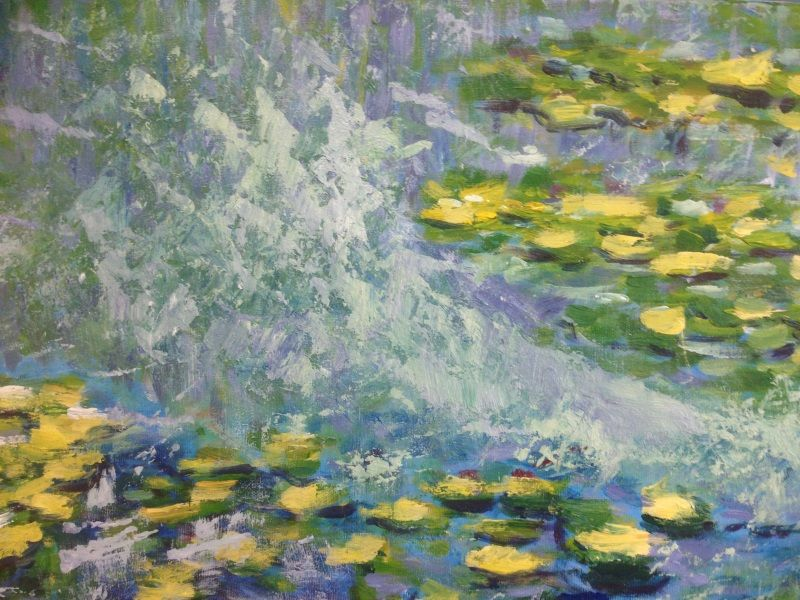 Monet: Waterlilies, 1906, No.1. - Student painting from Inglis Academy.