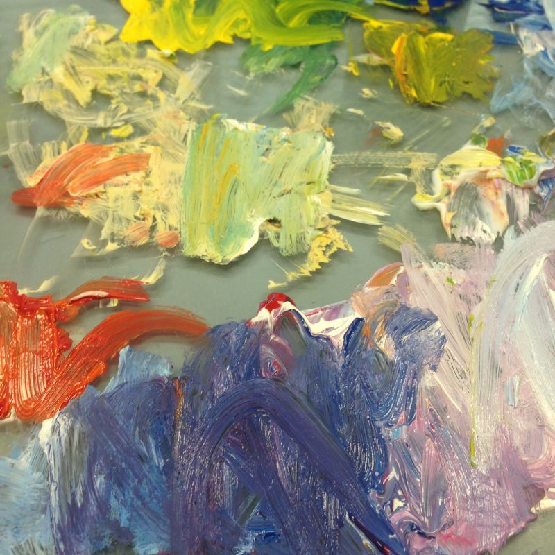 Palette of colours for Monet: Water Lilies 1906, no.3 | From www.inglisacademy.com