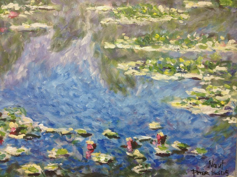 Monet: Water Lilies 1906, No.3 by Peter Inglis