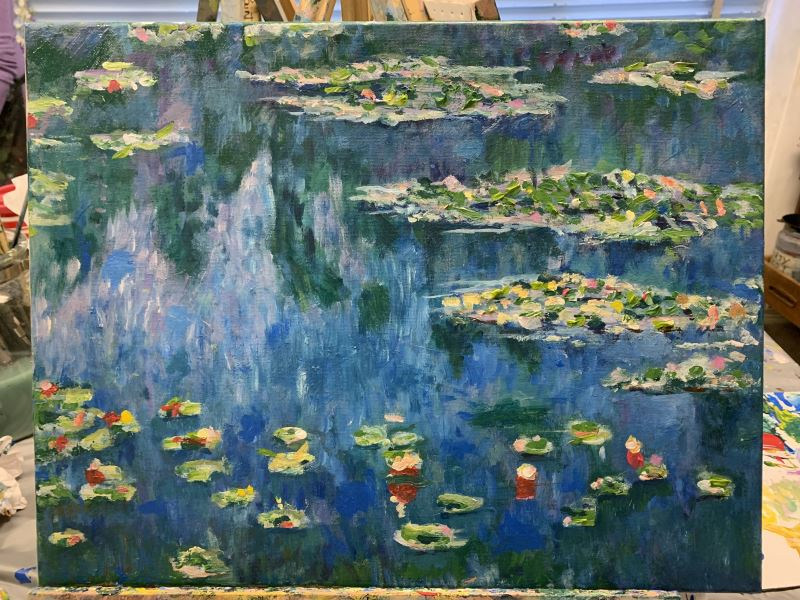 Student's Monet: the finished work